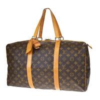 Auth LOUIS VUITTON Sac Souple 45 Travel Hand Bag Monogram Brown M41624 39MD295