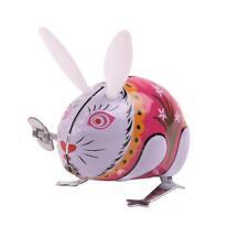 1 PC Vintage Rabbit Tin Wind Up Toy Jumping Hopping Rabbit HS3