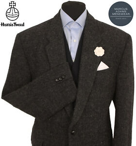 Harris Tweed Jacket Blazer Size 46R Country Marl Weave Hacking NICE COLOUR