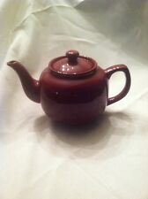 Old Amsterdam Porcelain Works 2 Cup Maroon Tea Pot