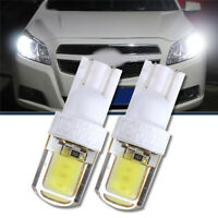 2Pcs T10 W5W COB LED Auto Car Bright Silica License Plate Light Bulb 6000K White