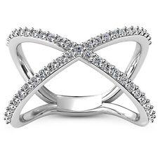 3/4 Carat D VS2 Diamond Engagement Ring Round Cut 14K White Gold