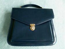 BNWOT, SMART, NAVY BLUE PATENT-EFFECT, HAND/SHOULDER BAG FROM JOHN LEWIS