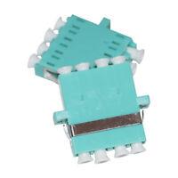 10pcs Telecom OM3 LC Quad Plex Optical Fiber Connector Flange Adapter Coupler