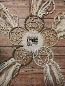 Wedding mini dreamcatcher favors, Barn wedding favors, beach party gifts