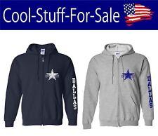 Dallas Cowboys Star Football Zip-Up Hooded Sweatshirt