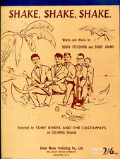 Tony Rivers & The Castaways : Shake Shake Shake: original UK 1960's Sheet Music