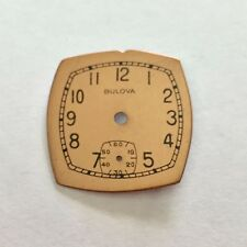 Bulova Watch Dial Face Parts Steampunk Repair Copper Art Watchmaker Square
