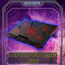 "11-17"" Gaming Notebook Laptop USB Cooling Pad Stand Cooler Cool LED 5 RED Fans"