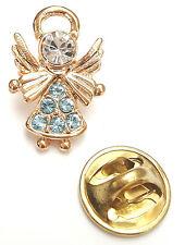 Pin March Aquamarine Angel-Drops Birthstone Guardian angel