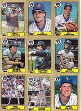 1986-87-88-89-90 Topps Brewers master team sets with traded Mint razor sharp