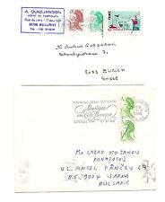 FRANCE 2  covers  lettres pour Bulgarie / Suisse type LIBERTE de Gandon
