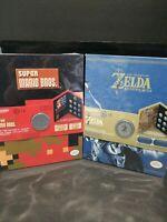 Nintendo Legend of Zelda Breath of the Wild & Super Mario Coin Collectors Albums