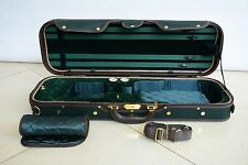 Luxury&Royal Wooden Violin Case Sturdy&Durable 3.2kg Green Color Free Shipping