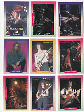 SLAUGHTER Heavy Metal Rock Band 14 TRADING CARDS SET 1991 Brockum Rockcards