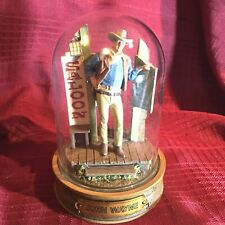 Franklin Mint Glass Domed John Wayne Movie Collectible A8649- Saloon