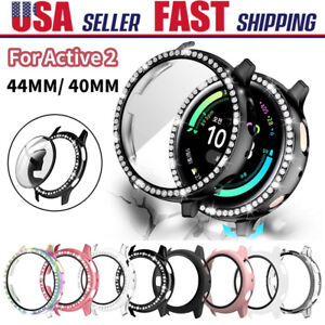 Fr Samsung Galaxy Watch Active 2 40/44mm Bumper Case Tempered Glass Screen Cover
