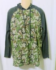Women's Embassy Clothing Co. Camoflauge Knit Hoodie Top Size Large-B7