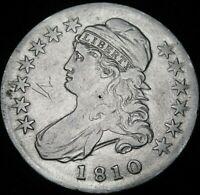 1810 Capped Bust  Half Dollar  Excellent Details  A40-657