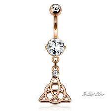 Bauchnabelpiercing Rosegold Anhänger Celtic Knot Keltisches Kreuz Knoten