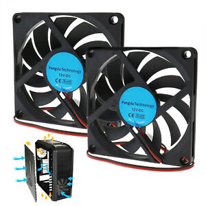 2PCS 80mm PC Cooling Fan Silent Computer PC Notebook Laptop Cooler Fan 2Pin