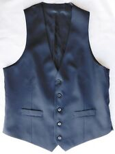 Mens navy blue wool waistcoat Charles Tyrwhitt chest size 42 42R NEW imperfect