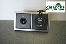 CBE 12v Socket & Double USB Charging Socket - Motorhome/Caravan, VW T5 Campervan