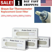 US! Replacement Lens Ear Thermometer Filter Cap Braun Probe Covers Thermoscan