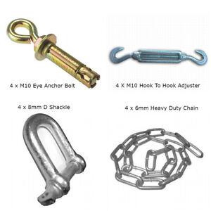 Static Caravan Chain Down Kit. Siting, Anchor Kit For Concrete Base