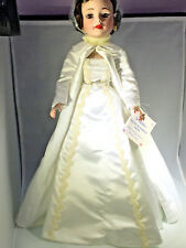 Madame Alexander 1961Jacqueline Portrait Doll in White Satin Inaugural Ball Gown
