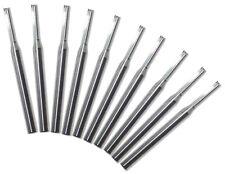 10 Fraises 2 dents à taille droite (Bois,PVC,ABS,MDF,Mousse) dia 3x2.5x17 mm CNC
