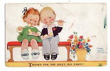 CARTOLINA  MABEL  LUCIE  ATTWELL  THANKS FOR  THE  JOLLY  OLE  PARTY   NVG