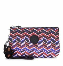 NEW - Kipling Creativity XL Printed Pouch in Dashing Stripes