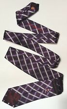 English Laundry 100% Silk Tie Purple Lavender White Stripes EUC