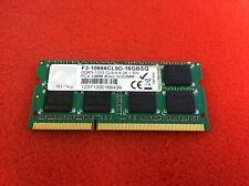 G.SKILL F3-10666CL9D-16GBSQ 8GB PC3-10666 1333MHz DDR3 SODIMM Laptop RAM - R132