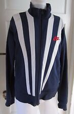 Vintage Nike Track Records Since 71 Striped Full Zip Up Sweater Jacket Mens L