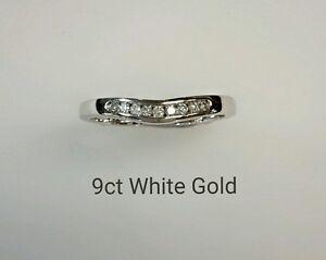 9ct Ladies White Gold Wishbone Ring