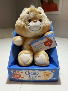 """Vintage KENNER 13"""" CARE BEAR CHAMP & WISH BEARs New For robinson79mark"""