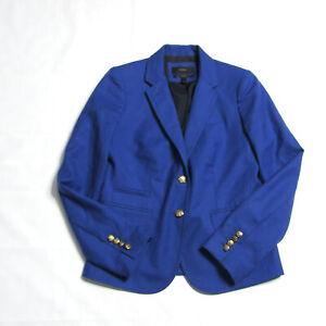 J. Crew Blue Wool Schoolboy Blazer Womens Size 2