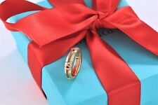 Tiffany & Co. 750 18KT. Gold Atlas Roman Numerals Ring Band Size 5.5 w/Packaging