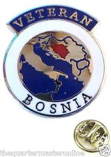 Bosnia Conflict Veterans Lapel Pin Badge