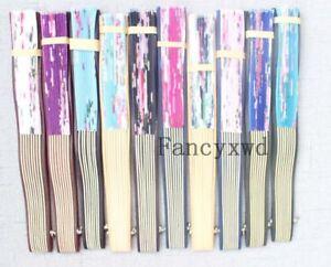 Silk Bamboo Handheld Folded Fan Wedding Favor 150pcs Wall Art Decoration