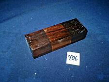 Makassar  Messergriff Messergriffblock Edelholz   120 x 42 x 28 mm    Nr. 706