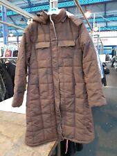 COTTON TRADERS BROWN LONG QUILTED COAT SIZE 16