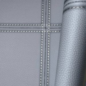 Rasch Club Grey Blue Stich Leather Effect Panel Tiles Wallpaper 419047