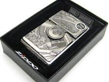 ZIPPO Full Size Street Chrome HARLEY DAVIDSON Windproof Lighter w/ Emblem! 29266