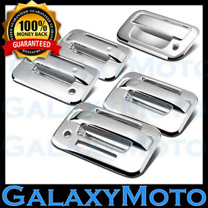 04-14 Ford F150 Chrome 4 Door Handle+keypad+Passenger keyhole+Tailgate Cover