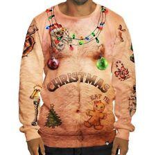 Унисекс мужские женские уродливые рождественские свитер толстовки косплей рождественский вязаный пуловер