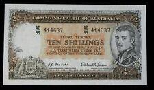 Australia 10 Shillings (1954-1960) P-29a Crisp Au World Paper Money #140