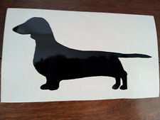 Dachshund Silhouette (Black) Car / Laptop Sticker, Decal